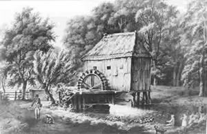 Watermolen Den Haller 1650 Bron: regiocanons.nl